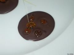palet aux gouttes de caramel